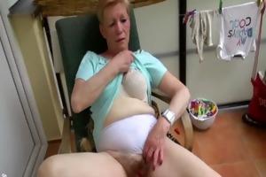 old granny masturbating with juvenile cutie and