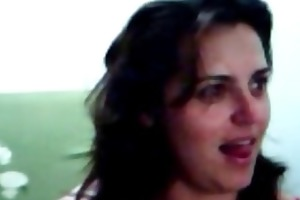 sexy brazilian milf teasing on livecam - by
