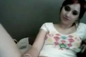 cute redhead dildos her holes on livecam -