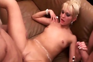 naughty blond aged floozy is so lascivious whilst