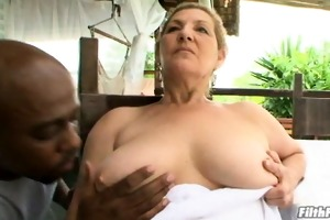 old hottie with huge tits!