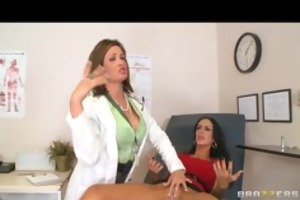 large tit brunette hair doctor has anal