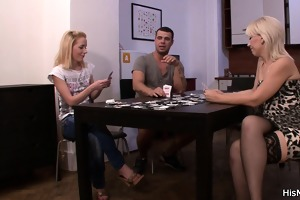 strip poker leads to slit toying