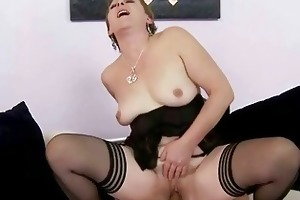 sexy granny receives drilled hard by juvenile chap