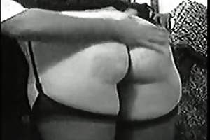 flogging wifey with her panty pulled down