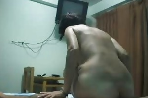 slutty latin milf gets nailed and creampied