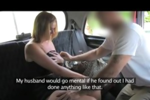 faketaxi married woman makes up for pissing on