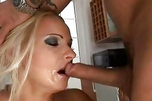 enormous chested blond momma in nylons sucks