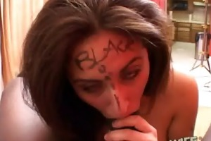 this cheating wife acquires herself drilled by