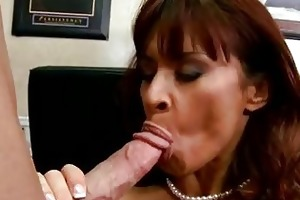 breasty randy mother i brunette in nylons does