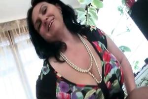 breasty mature whore acquires lustful dildo part5