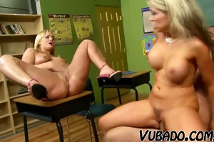students receive drilled by their teacher !!