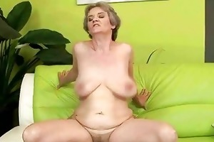 sexy breasty granny engulfing and fucking giant