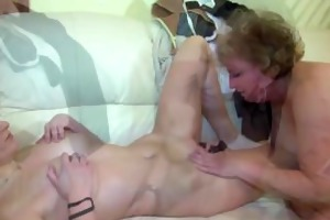 large toy and old granny and three-some with a