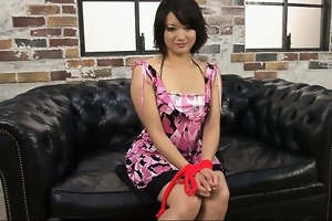 wicked oriental bimbo with curly cunt muff