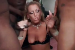 sexy blonde honey sucks large dong and acquires