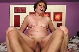 granny having sexy sex with her youthful paramour