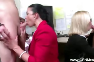 cfnm office harlots suck for torment