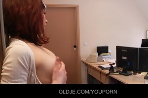 youthful nasty assistant fucking her old boss
