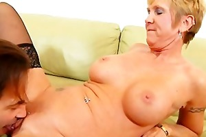 sexually excited granny likes facual cumshots