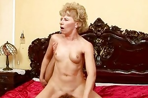granny enjoys hard sex with a lad