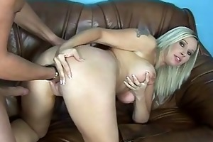 busty milf acquires double a-hole fuck