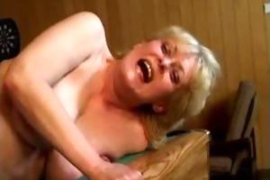 nasty blond older wife acquires her snatch part2