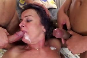 mature double penetration trio fuck