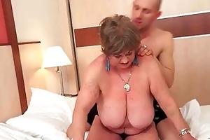 breasty fat grandma enjoying naughty sex