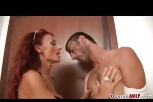italian aged receives anal joy