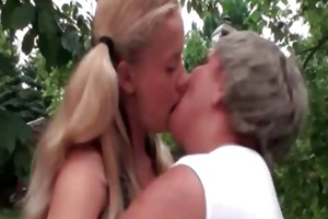 sexy golden-haired sweetheart receives lustful
