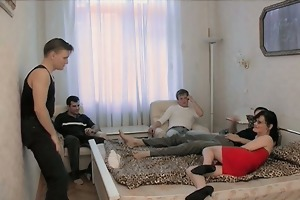 mom wishes four boyz to cover her in hawt cum