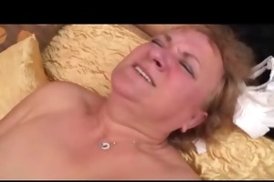 granny works a youthful pecker
