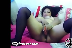 fat oriental floozy fucking herself