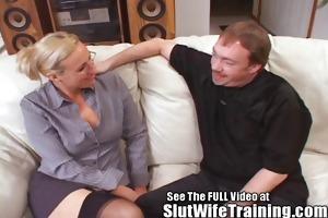 teacher joey-lynn receives a doxy training lesson
