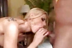 threesome with sexually excited milfs