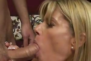 concupiscent mama desires his cum