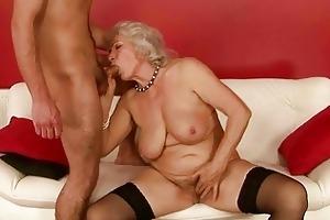 lascivious chap fucking busty grandma