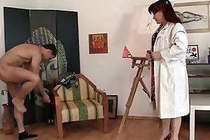 aged paintress rides his juvenile dick