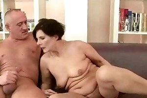bulky grandma enjoying naughty sex