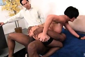 white wife cunt pounded by darksome penis