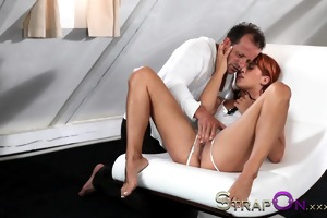 dong older lad shows her she is cant take it is