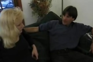 aged enjoys a little anal pound on the couch