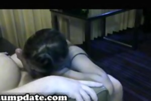 oriental wife gives blowjob and acquires