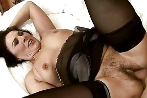 naughty granny receives her shaggy twat screwed