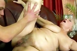 wicked breasty granny acquires screwed