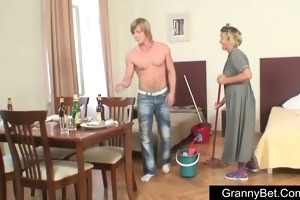 aged lady drilled hard by youthful boy