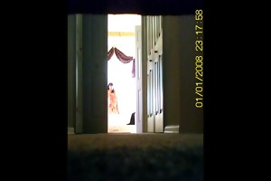 caught my mom in the bathroom. hidden cam. voyeur.
