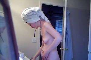 youthful shaggy wife after shower