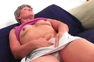 fingering overweight granny bella